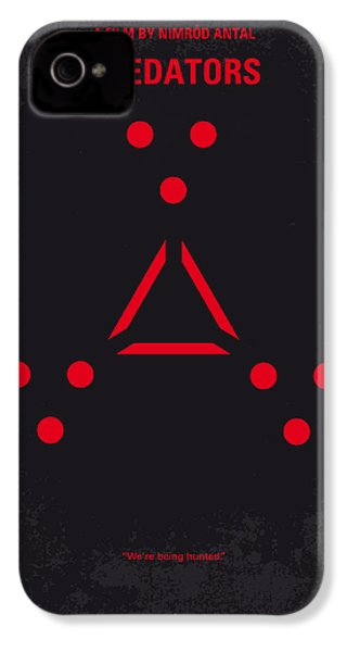 No289 My Predators Minimal Movie Poster IPhone 4s Case by Chungkong Art