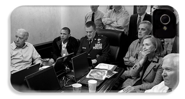 Obama In White House Situation Room IPhone 4s Case by War Is Hell Store