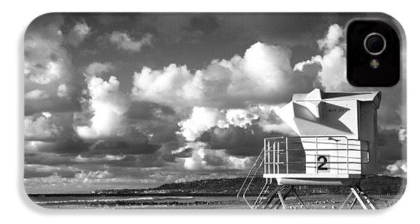 Ocean Beach Lifeguard Tower IPhone 4s Case by Nathan Rupert