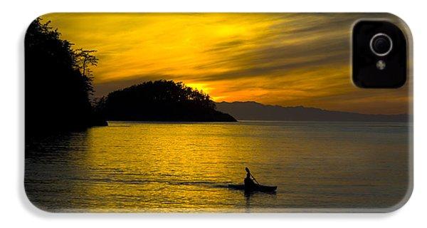 Ocean Sunset At Rosario Strait IPhone 4s Case by Yulia Kazansky