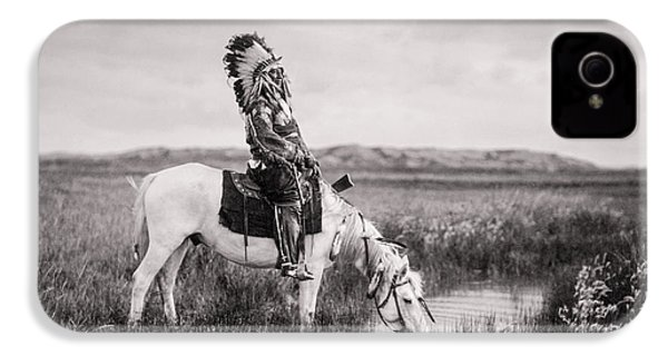 Oglala Indian Man Circa 1905 IPhone 4s Case by Aged Pixel