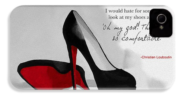 Oh My God Louboutin IPhone 4s Case by Rebecca Jenkins