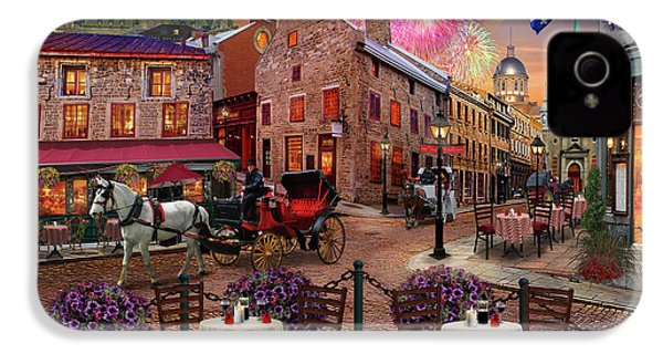 IPhone 4s Case featuring the drawing Old Montreal by David M ( Maclean )