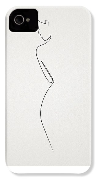 One Line Nude IPhone 4s Case