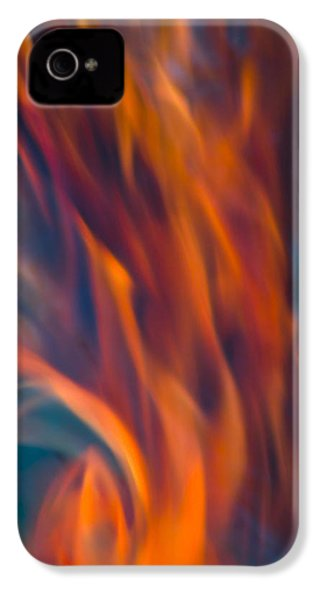 Orange Fire IPhone 4s Case by Yulia Kazansky