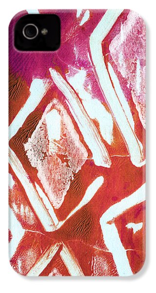 Orchid Diamonds- Abstract Painting IPhone 4s Case by Linda Woods