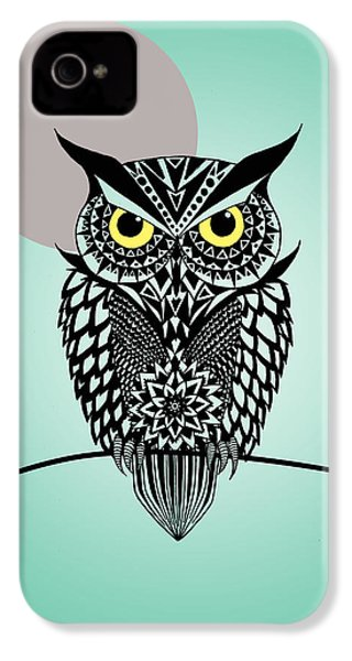 Owl 5 IPhone 4s Case by Mark Ashkenazi
