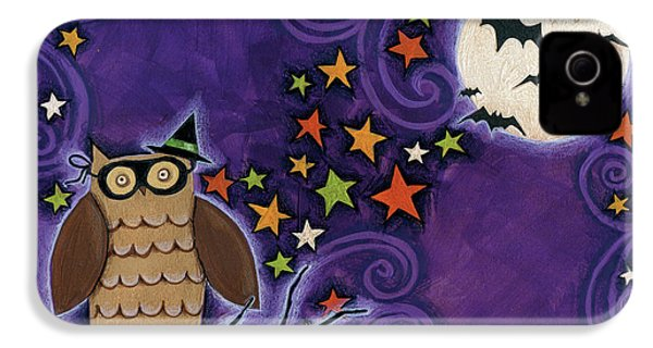 Owl With Mask IPhone 4s Case by Anne Tavoletti