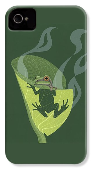 Pacific Tree Frog In Skunk Cabbage IPhone 4s Case by Nathan Marcy