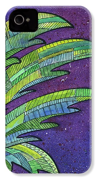 Palms Against The Night Sky IPhone 4s Case by Diane Thornton