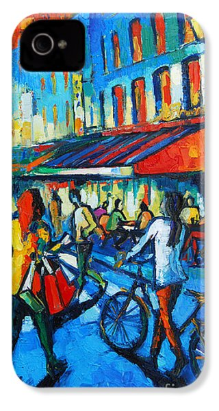 Parisian Cafe IPhone 4s Case by Mona Edulesco