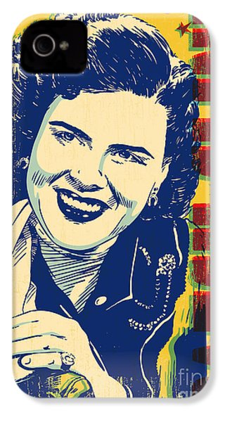 Patsy Cline Pop Art IPhone 4s Case by Jim Zahniser
