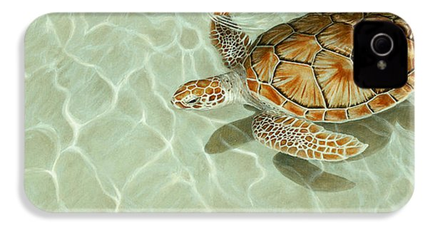 Patterns In Motion - Portrait Of A Sea Turtle IPhone 4s Case