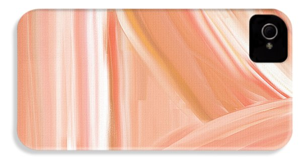 Peach Accent IPhone 4s Case by Lourry Legarde