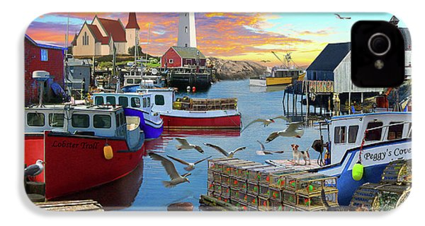 IPhone 4s Case featuring the drawing Peggys Cove by David M ( Maclean )