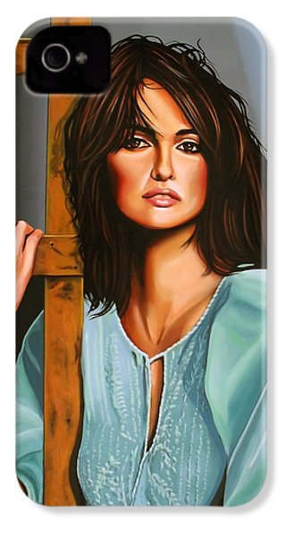 Penelope Cruz IPhone 4s Case by Paul Meijering