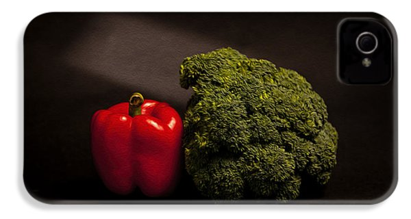 Pepper Nd Brocoli IPhone 4s Case by Peter Tellone