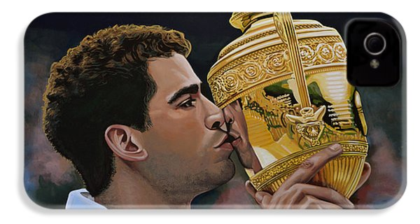 Pete Sampras IPhone 4s Case by Paul Meijering