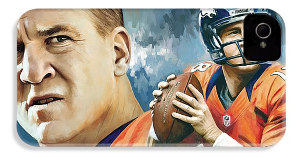 Peyton Manning Artwork IPhone 4s Case by Sheraz A