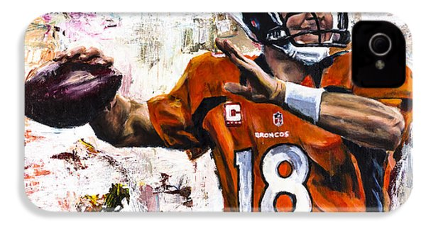 Peyton Manning IPhone 4s Case by Mark Courage