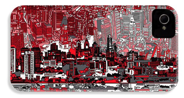 Philadelphia Skyline Abstract 4 IPhone 4s Case