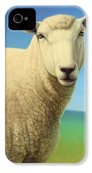 Portrait Of A Sheep IPhone 4s Case by James W Johnson