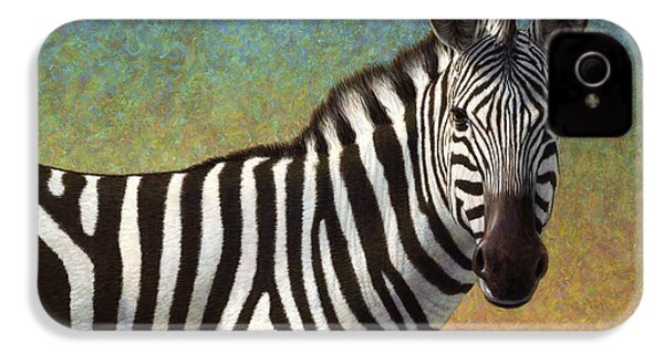Portrait Of A Zebra IPhone 4s Case by James W Johnson