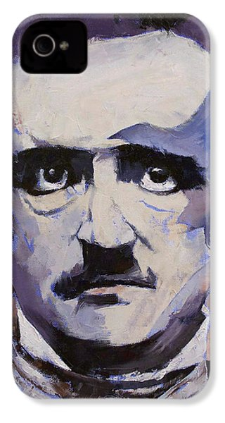 Edgar Allan Poe IPhone 4s Case by Michael Creese