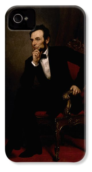President Lincoln  IPhone 4s Case by War Is Hell Store