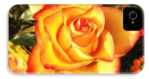 Pretty Orange Rose IPhone 4s Case