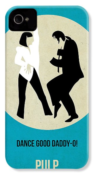 Pulp Fiction Poster 2 IPhone 4s Case by Naxart Studio