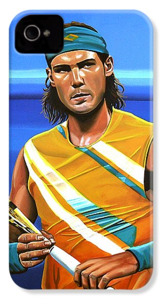 Rafael Nadal IPhone 4s Case by Paul Meijering