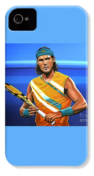 Rafael Nadal IPhone 4s Case by Paul Meijering