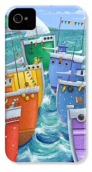 Rainbow Flotilla IPhone 4s Case by Peter Adderley