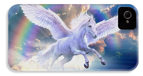 Rainbow Pegasus IPhone 4s Case by Jan Patrik Krasny