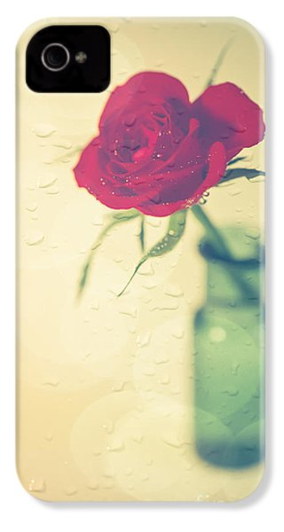 Raindrops On Roses . . . IPhone 4s Case by Jan Bickerton