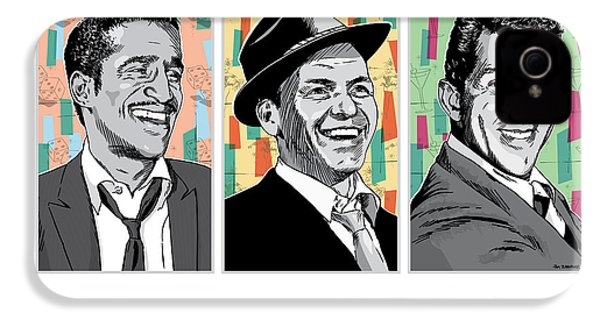 Rat Pack Pop Art IPhone 4s Case by Jim Zahniser