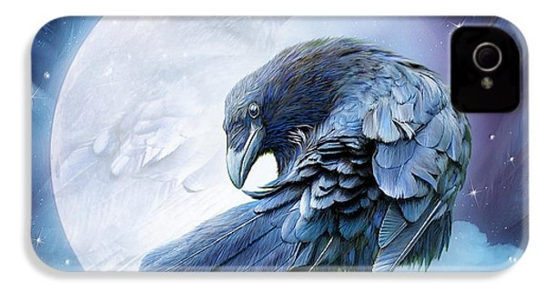 Raven Moon IPhone 4s Case by Carol Cavalaris