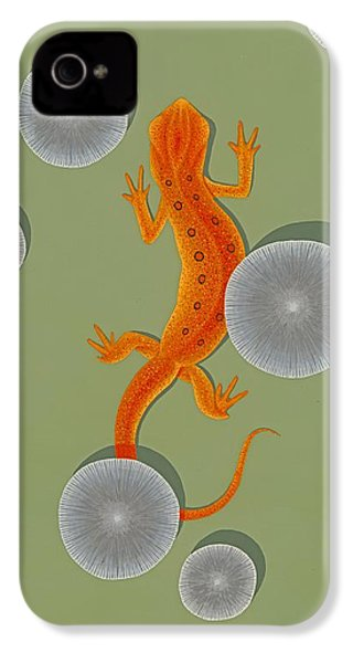 Red Eft Newt IPhone 4s Case by Nathan Marcy