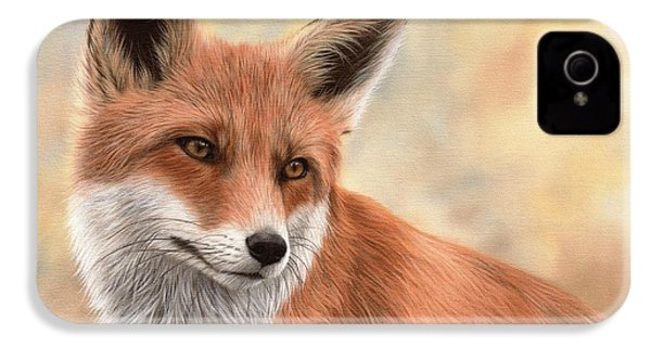 Red Fox Painting IPhone 4s Case by Rachel Stribbling