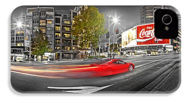 Red Lights Sydney Nights IPhone 4s Case by Az Jackson