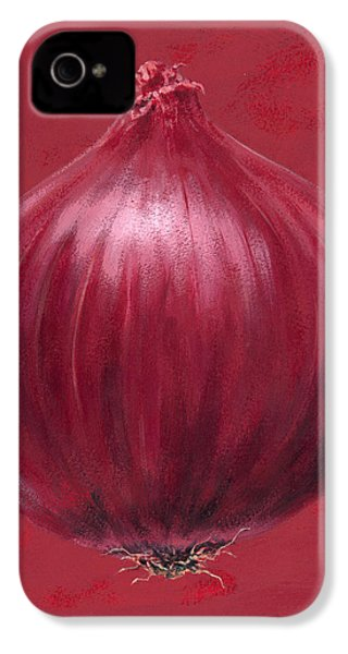Red Onion IPhone 4s Case by Brian James