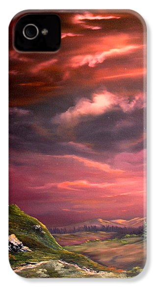 Red Sky At Night IPhone 4s Case by Jean Walker