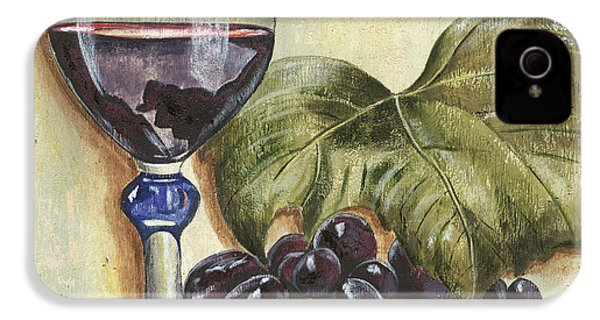 Red Wine And Grape Leaf IPhone 4s Case
