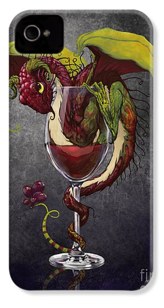 Red Wine Dragon IPhone 4s Case by Stanley Morrison