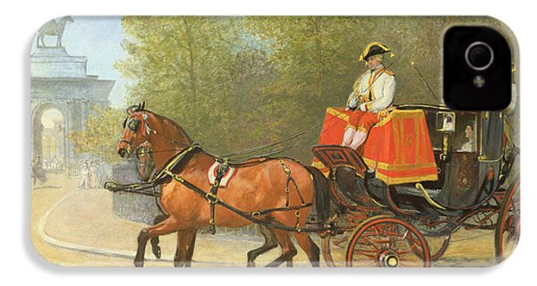 Returning From Her Majestys Drawing Room IPhone 4s Case by Alfred Corbould