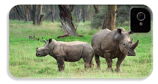 Rhino Family IPhone 4s Case by Sebastian Musial