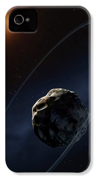 Ringed Asteroid Chariklo IPhone 4s Case by Mark Garlick