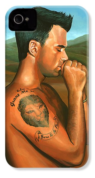Robbie Williams 2 IPhone 4s Case by Paul Meijering