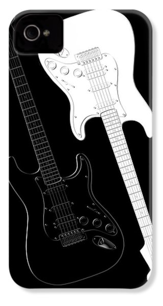 Rock And Roll Yin Yang IPhone 4s Case by Mike McGlothlen